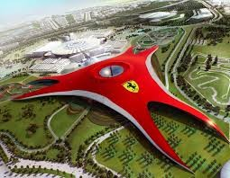 Abu Dhabi & Ferrari World From Zayed Port